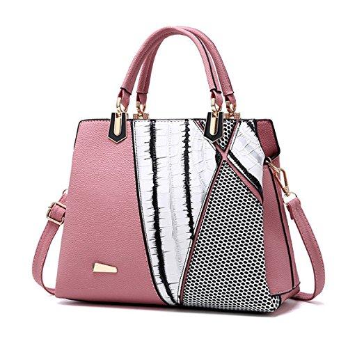 Elegant Crocodile Travel Ladies Bag Women Tote Large Design Pattern Purse Pink Bag Handbag Fashion OURBAG Crossbody Leather Grey Hqgxzfp