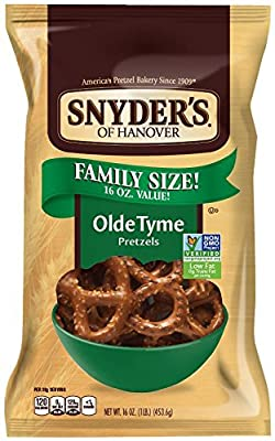 Snyder's of Hanover Pretzels, Butter Snaps, 12 Ounce (Pack of 12)