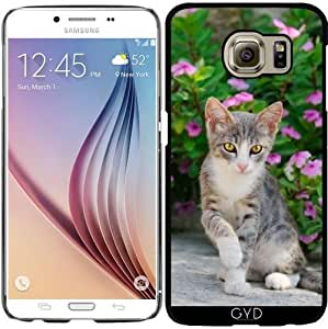 Funda para Samsung Galaxy S6 (SM-G920) - Gatito Lindo Gato Flores De Color Rosa by Katho Menden