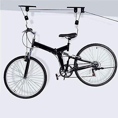 Shop Story – Soporte elevador de bicicleta de techo + fijaciones y gancho – Con este ascensor tu bicicleta toma la altura: Amazon.es: Deportes y aire libre