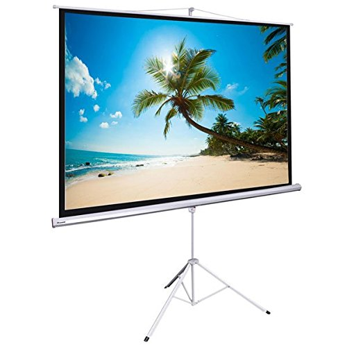 120'' INSTAHIBIT Manual 4:3 Floor Stand Presenter Movie Projector Screen w/ Tripod - WHITE by Triprel Inc