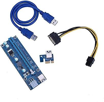 globeagle PCI-E 1 X a 16 X Tarjeta Gráfica Cable de extensión para ...