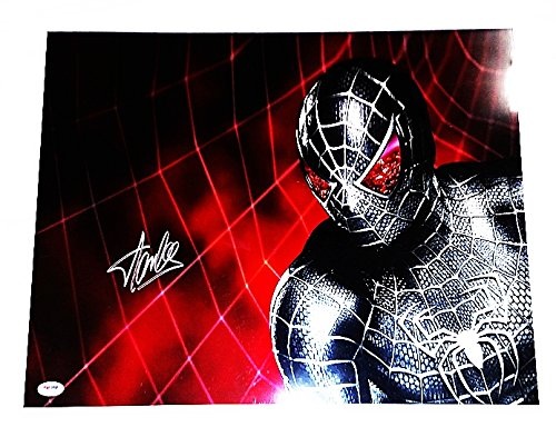 AUTOGRAPHED Stan Lee (Marvel Creator) SPIDERMAN VENOM Holofoil Signed 16X20 Glossy Comic Book Photo with PSA / DNA COA