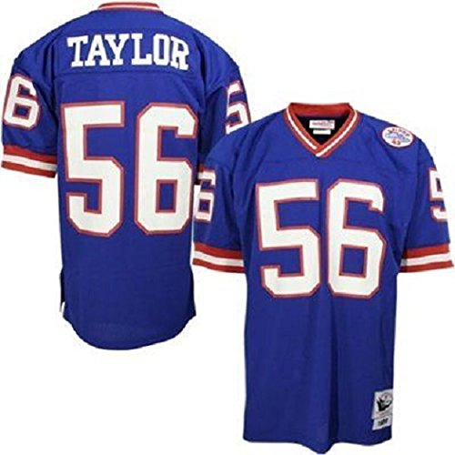 Mitchell & Ness Lawrence Taylor New York Giants Blue Throwback Jersey Large