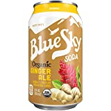 Blue Sky Organic Soda (Ginger Ale, 12 Ounce, Pack of 24)