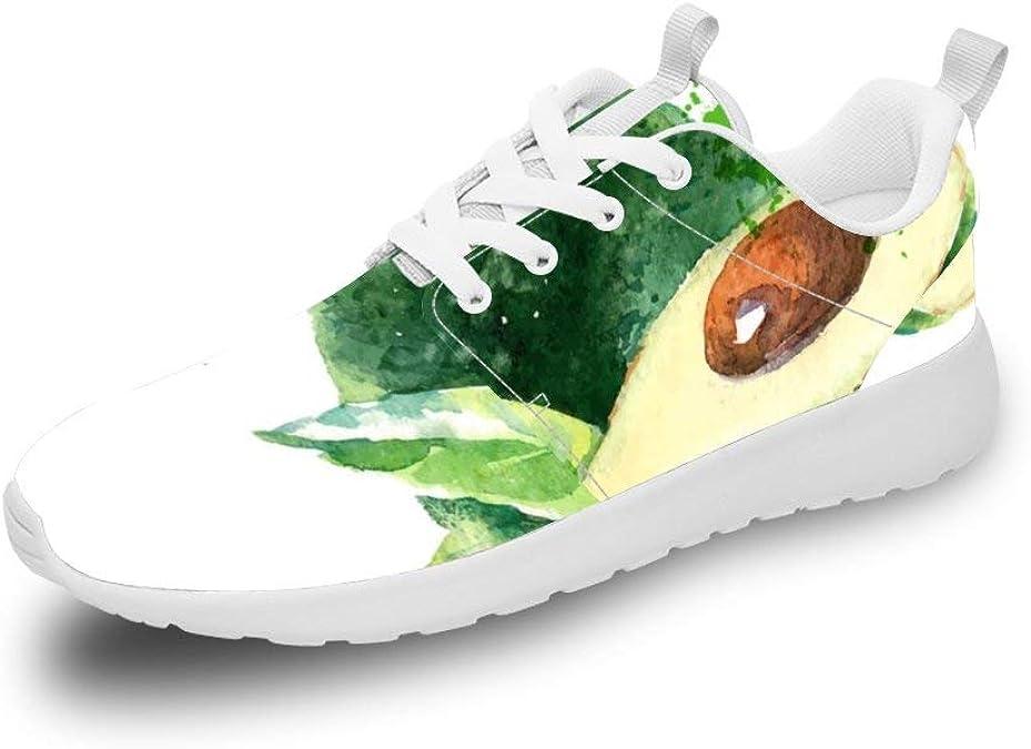 Mesllings Unisex Zapatillas de Running Acuarela Acuarela Avocado Ligero Deporte Moda Zapatos para Exterior: Amazon.es: Zapatos y complementos