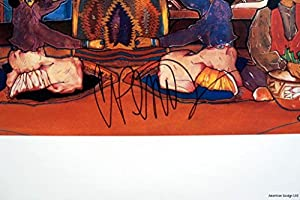 """Amado Pena /""""Three Seated Figures/"""" offset lithograph HAND SIGNED Make an offer!"""