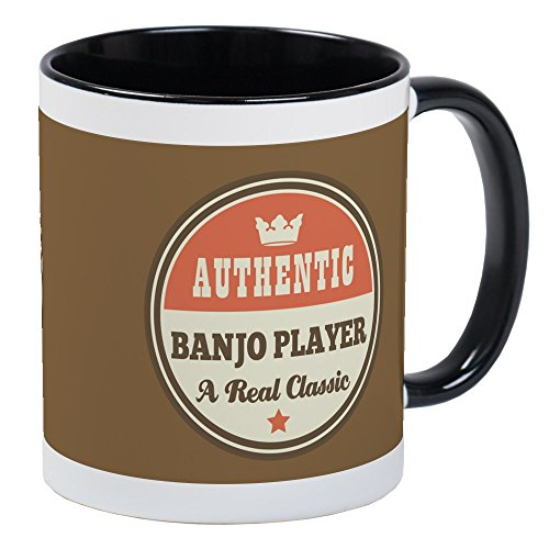 CafePress Funny Classic Banjo Player Music Mugs Unique Coffee Mug, Coffee Cup