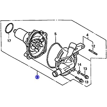Amazon Com Honda 19200 Maa A00 Water Pump Assy Automotive