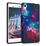 kwmobile TPU SILICONE CASE for Sony Xperia M4 Aqua Space design Blue Violet etc. - Stylish designer case made of premium soft TPU