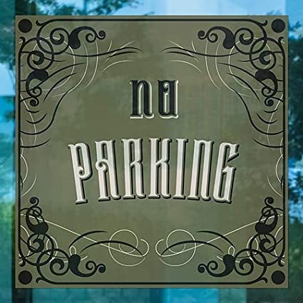 Victorian Gothic Window Cling No Parking CGSignLab 24x24 5-Pack