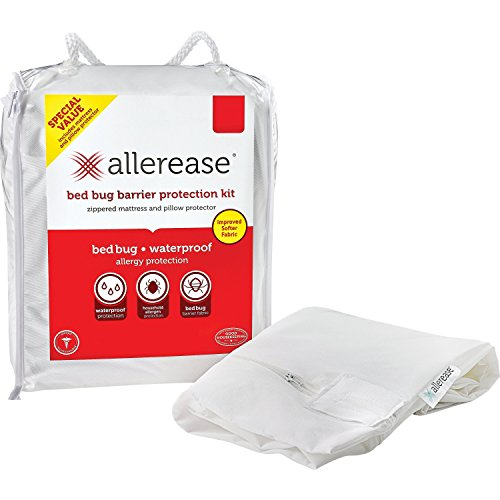 Aller-Ease Bed Bug Barrier Mattress & Pillow Protector, White