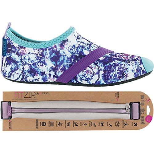 Fitkicks Zapatos Para Mujer Con Paquete De Cintura Fitzip, Burst En La Nube, Zapatos Grises
