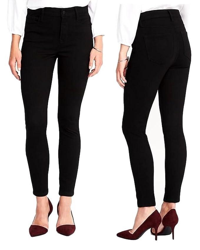 Amazon.com: Pantalones vaqueros negros de alta calidad para ...