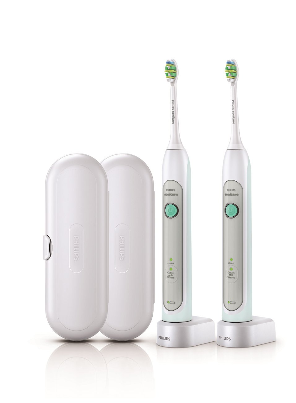 Philips Sonicare HX6772/74 Healthy White Rechargeable Toothbrush, Grey, 2 Count