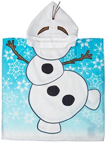 Disney Frozen Olaf Cotton Hooded Poncho Beach/Bath/Pool Towel (Disney Frozen Bath Accessories)