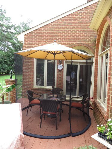 Amazon.com  Umbrella Mosquito Net Canopy Patio Table Set Screen House - Large Premium Netting  Outdoor Canopies  Garden u0026 Outdoor & Amazon.com : Umbrella Mosquito Net Canopy Patio Table Set Screen ...