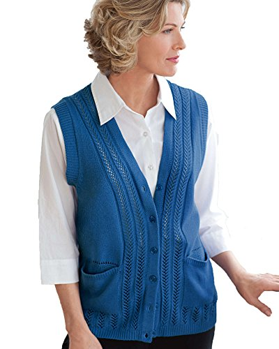 National Classic Sweater Vest, Denim Blue, Large