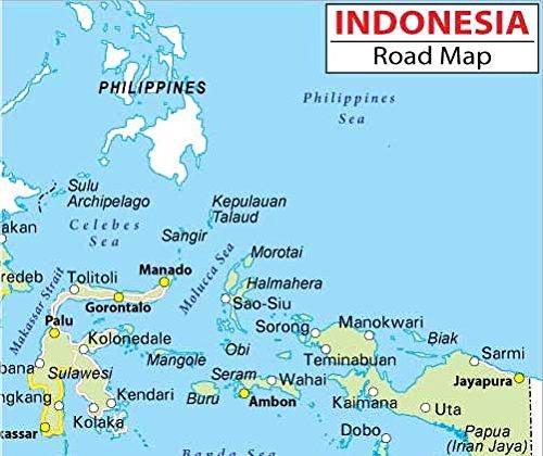 Amazoncom Indonesia Highway Map Laminated 36 W x 3046 H