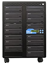 Produplicator 1 to 15 24X CD DVD Duplicator Copier (M-Disc Support Burner) with Nero Essentials CD/DVD Burning Software