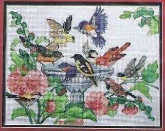 Bird Bath 40863 Counted Cross-Stitch