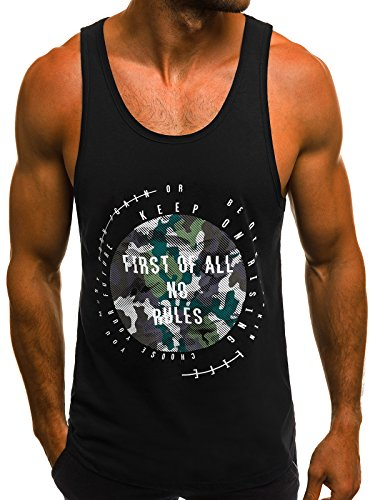 Sous Fitness Manches 181484 Débardeur Débardeur Black ozonee Débardeur Madmext Muscle Hommes Ozonee Imprimé Gilet chemise 1323 shirt T b Shirt Sans P60qxAw