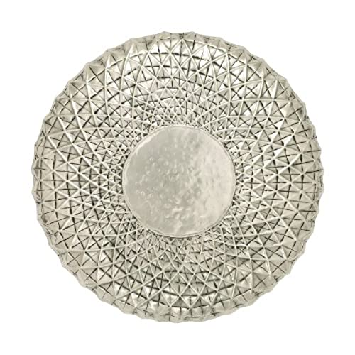 Nice Deco 79 Exclusive Metal Wall Round Shape Decor, 23 Inch, Off White