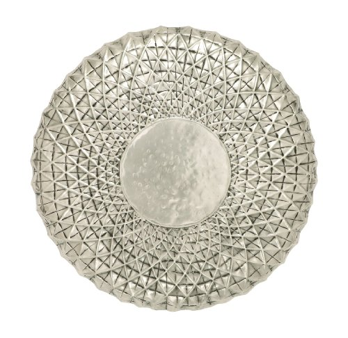 (Deco 79 Exclusive Metal Wall Round Shape Decor, 23-Inch, Off White)
