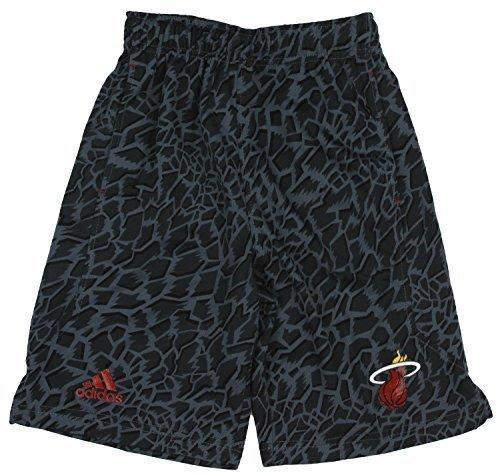 adidas Miami Heat NBA Big Boys Youth Crazy Light Swingman Shorts, Black (Black, Medium (10-12)) ()