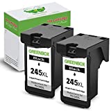 GREENBOX Re-Manufactured Ink Cartridge Replacement for Canon PG-245XL PG 245 245XL 245 XL Used in Canon PIXMA MG2520 MG2920 MG2922 MG2420 MG2522 MG3022 MG2555 IP2820 TS302 TR4520 Printer (2 Black)