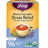 Yogi Tea - Honey Lavender Stress Relief - Soothing Serenity Blend - 6 Pack, 96 Tea Bags Total