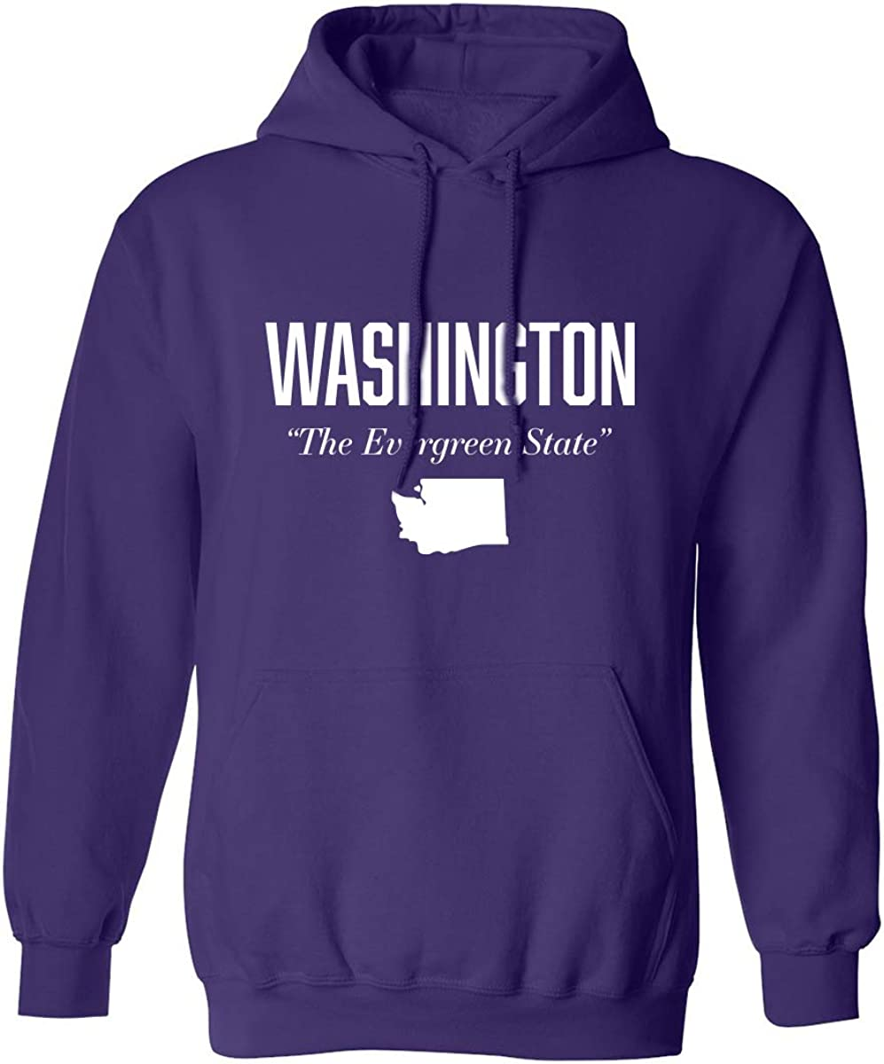 zerogravitee Washington The Evergreen State Adult Hooded Sweatshirt