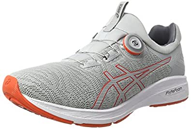 ASICS Men's Performance Dynamis Running Shoe (7, Mid Grey/Carbon/White)