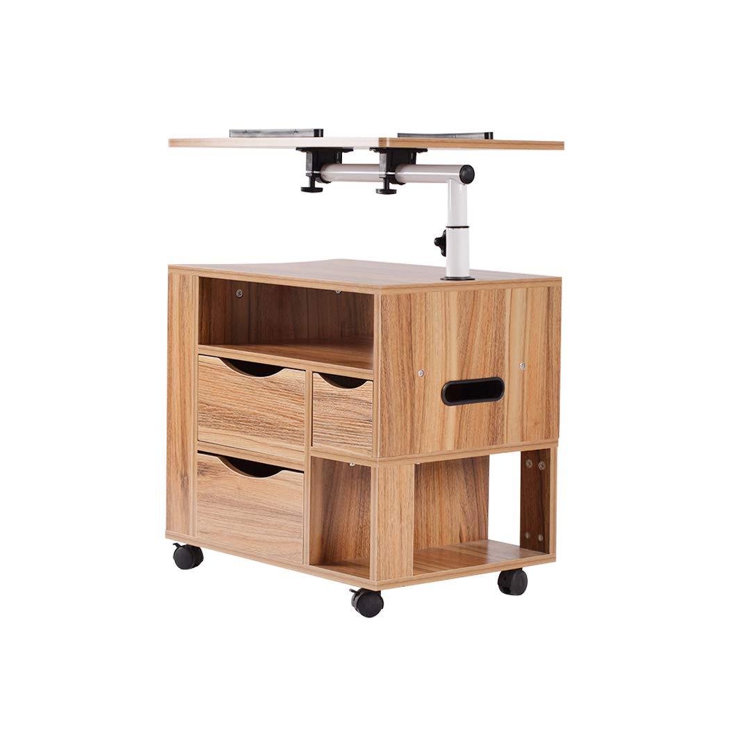 Amazon.com: Laptop Desk, Multifunctional Modern Rolling Wood ...