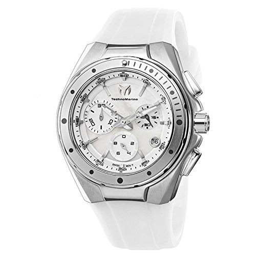 TechnoMarine Unisex 110005 Cruise Steel Chronograph White MOP Dial Watch