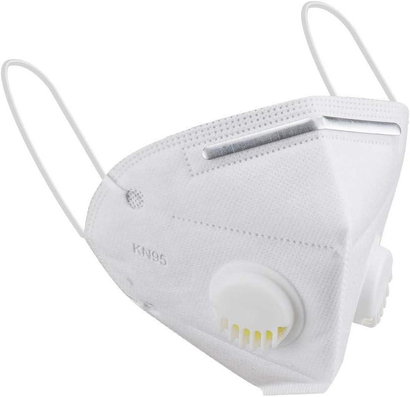 GUNGUN Mask Mascarilla con Válvula, Mascarilla Plegable Antipolvo Protección Autofiltrante Mask Mascarilla con Filtro 99% Máscara de Respiración Mascarilla de Seguridad
