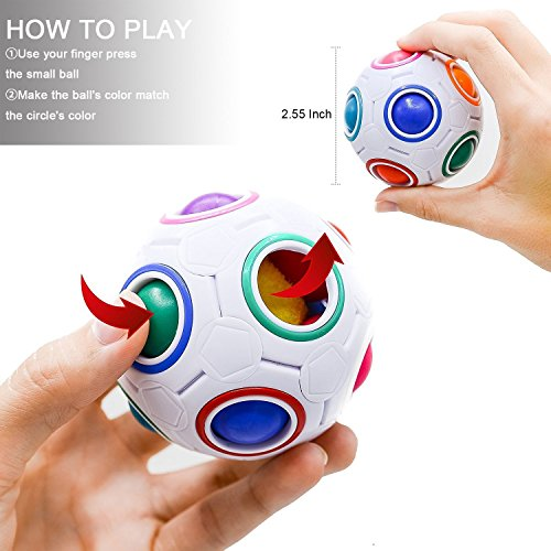 513Rt2h23ML - SpringFly 030 12 Pack Bundle Sensory Fidget Cube/Bike Chain/Liquid Motion Timer/Rainbow Magic Ball/Mesh and Marble Toy/Soybeans Squeeze Grape