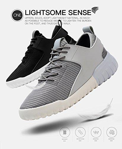 Tiosebon Damesschoen Met Damesschoenen Lichtgewicht Ademende Sneakers 6502 Grijs