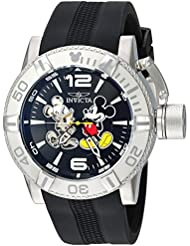 Invicta Mens Disney Limited Edition Automatic Stainless Steel and Silicone Casual Watch, Color:Black (Model...