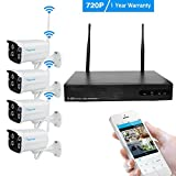 Amorvue 8CH Wireless CCTV Home Security System 1080P WIFI NVR HDMI with 4 X Wifi Outdoor 1500TVL 720P Waterproof Bullet Surveillance Cameras with IR Night Vision