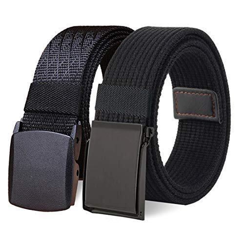 WYuZe 2 Pack Nylon Canvas Belt Outdoor Military Web Belt 1.5