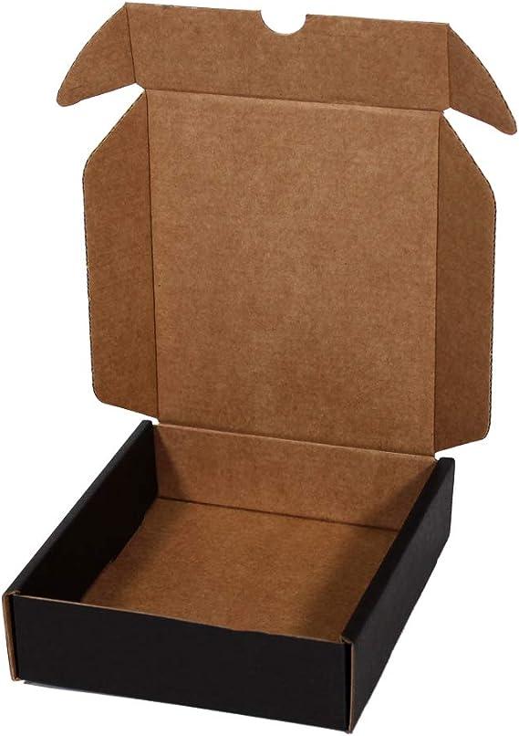 Kartox   Caja De Cartón Negra para Envío Postal   Caja Automontable ideal para Regalo   Caja de Cartón Resistente   Talla L   30x22x8   20 Unidades: Amazon.es: Oficina y papelería
