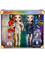 Rainbow High Special Edition Twin 2-Pack Fashion Dolls, Laurel & Holly De'Vious –Dressed in Multicolored Rainbow Metallic Printed Outfits with Doll Accessories