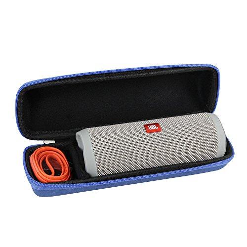 Hard EVA Travel Blue Case for JBL Flip 4 Splashproof Portable Bluetooth Speaker by Hermitshell