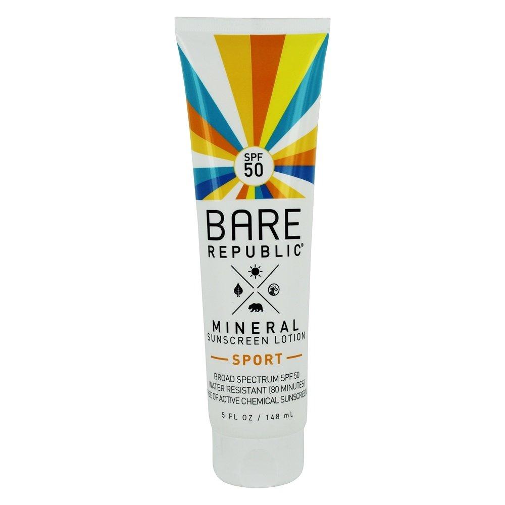 Bare Republic Mineral Sport SPF 50 Sunscreen Lotion (5 oz) by Bare Republic