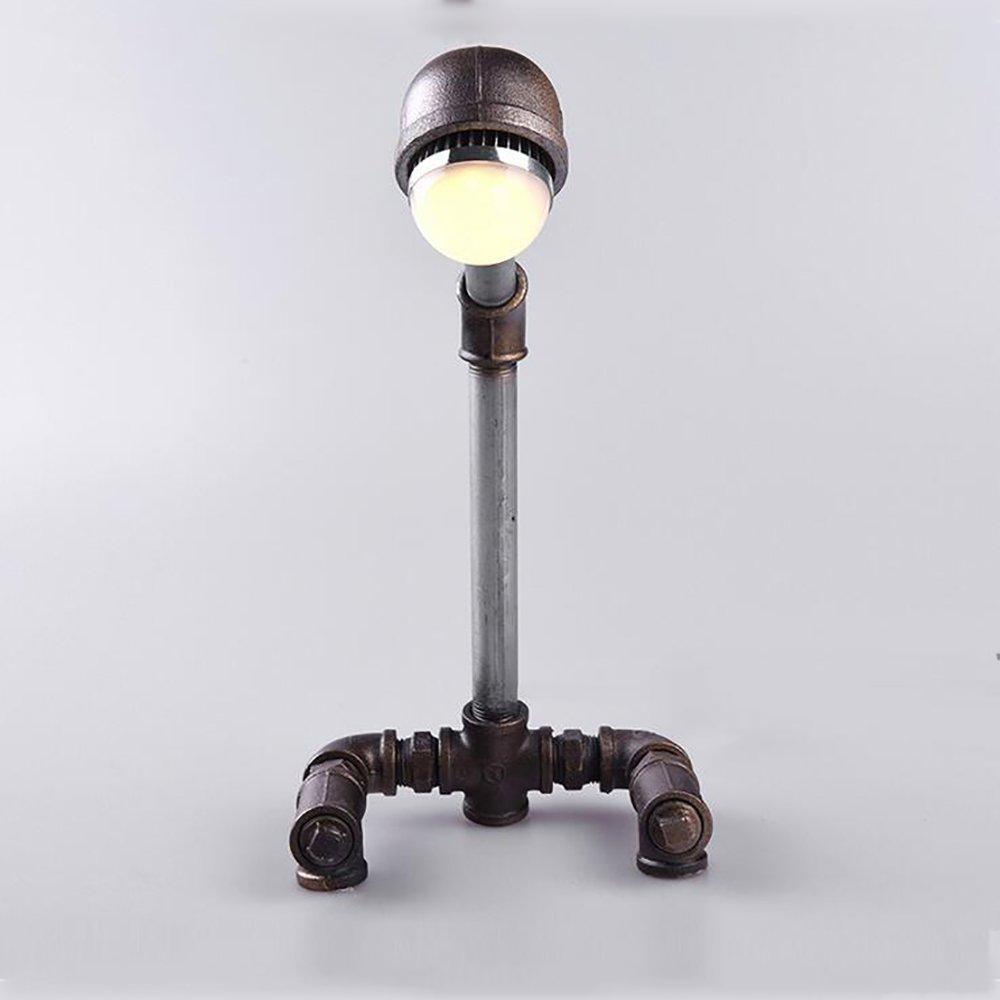 TOYM UK Kreative Wasser Rohr Schreibtisch Lampe Studie Schlafzimmer Lampe LED-Lampe (Farbe   Warmes Licht)
