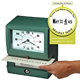 Acroprint Time Recorder Co. Acroprint 150NR4 Heavy Duty Automatic Time Recorder for Month, Date, Hour (1-12) and Minutes Time Clock