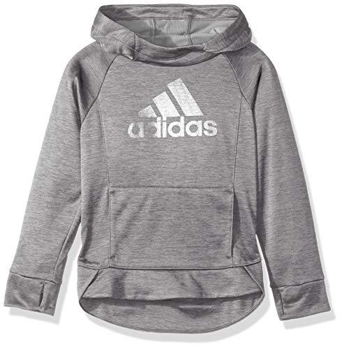 (adidas Girls' Big Pullover Sweatshirt, MED Grey Heather ADI 1, M (10/12))