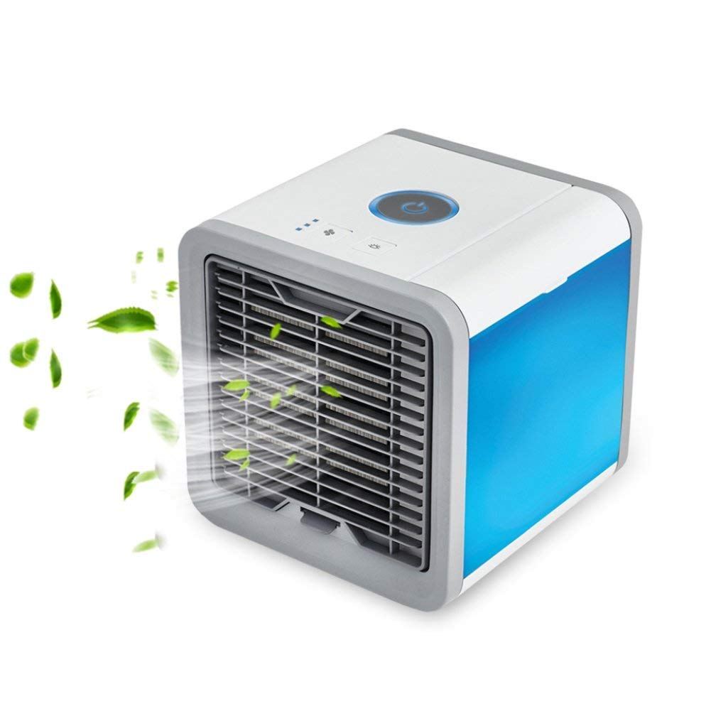 SUNMAY Climatiseur Portable - Ventilateur USB Muitifonction 3 EN 1Mini Climatiseur Humidificateur Purificateur 7 LED Couleurs pour Maison/Bureau