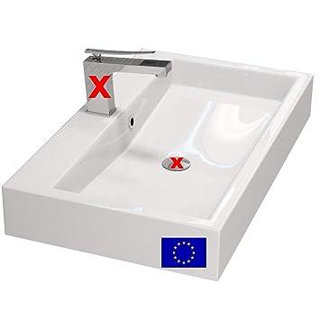 Design Waschbecken zur Wandmontage oder als Aufsatzwaschbecken ...